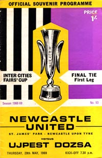 program: Leeds - Dozsa Uj. 1968/9 Fairs Cup Final