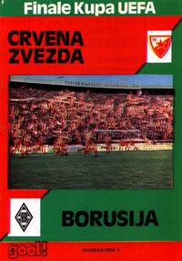 program: CZ Belgrad - Borussia MG 78/9 UEFA Cup Final