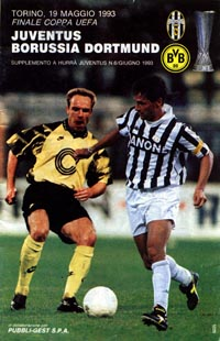 program: Juventus - Dortmund 92/3 UEFA Cup Final