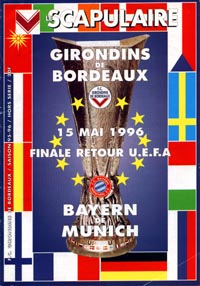 program: Bordeaux - München 95/6 UEFA Cup Final